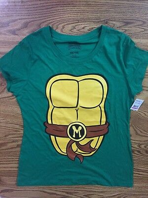 NWT Ninja Turtle Tee Costume Shirt Michelangelo SZ XXL 2X Women Juniors  (Womens Ninja Turtle Shirt)