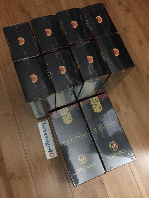 10 Boxes ORGANO GOLD GOURMET BLACK COFFEE W/ GANODERMA LUCIDUM EXP.7/2022