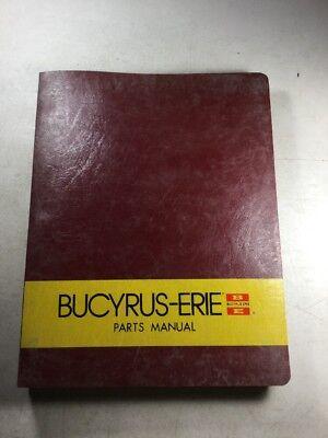 Bucyrus Erie 30h 30hl 31h Excavator Parts Manual