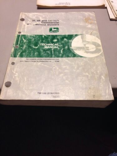 Deere 38 48 52 Commercial Walk Behind Mower Techmical Manual