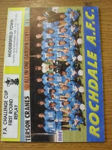 22-11-1988-Rochdale-v-Huddersfield-Town-FA-Cup-Replay-Light-Crease-Item-In