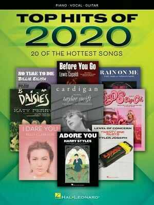 Top Hits of 2020 Sheet Music 20 of the Hottest Songs Piano Vocal NEW 000355551