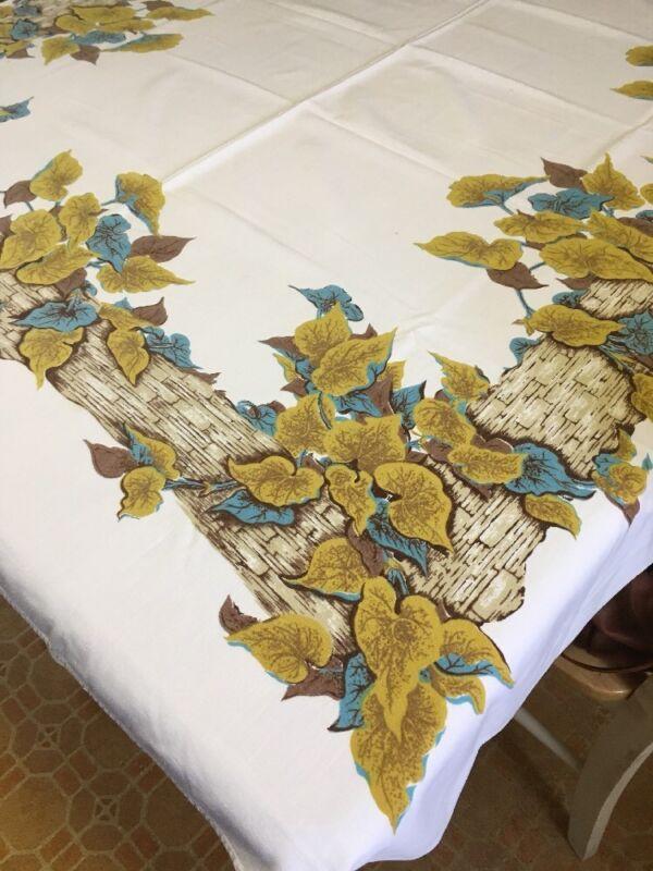"Vintage ""Calaprint"" Tablecloth"