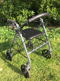 Ability Superstore Four Wheel Rollator - cost £60