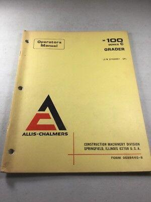 Allis Chalmers M100 Series C Grader Operators Manual