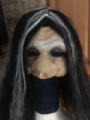 Halloween Old Woman Face Costume Mask Adult And Hair Wig](Old Woman Halloween Mask)