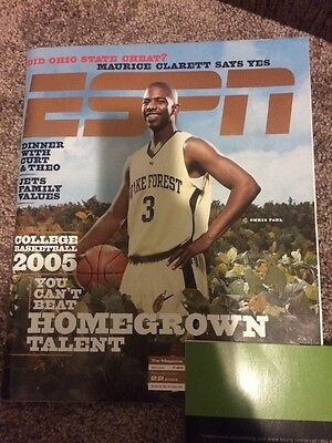 Chris Paul Espn Magazine Ncaa College Basketball 2005 Preview Issue