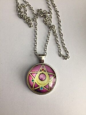 New Sailor Moon Anime Cosplay Glass Cabochon Pendant Necklace Jewelry Gift-f79