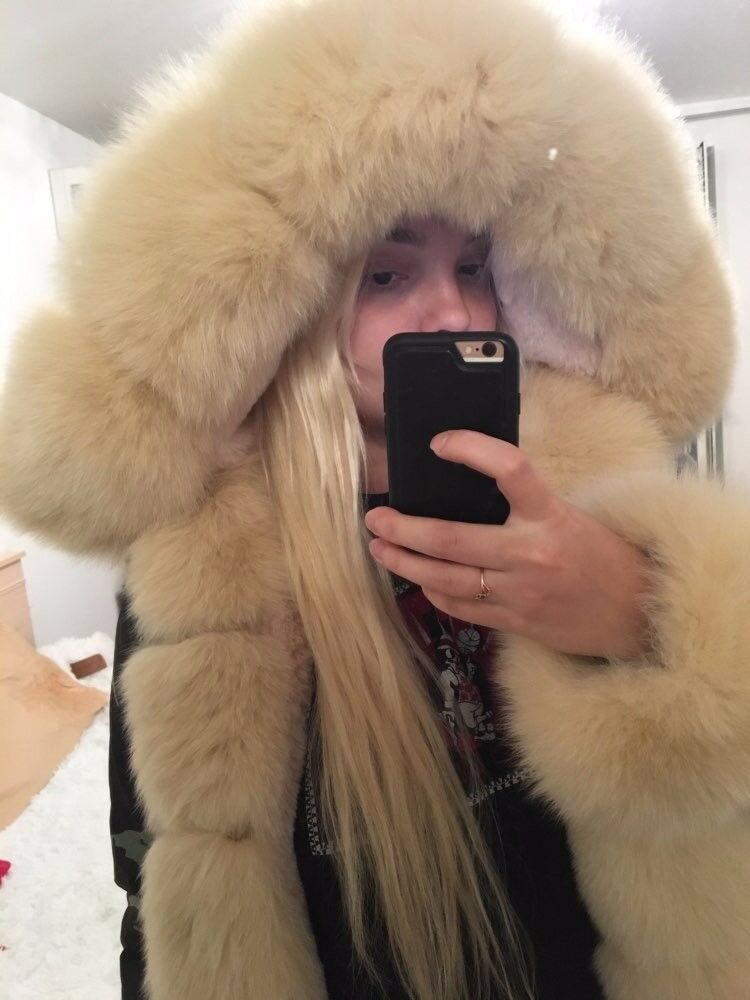 FOX FUR PARKA FULLY LINED WITH AND WITHOUT CUFFS