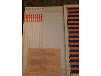Knitmaster Punch Card Set 10 Cards No.361-370