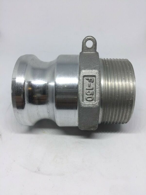 "150-F-AL, 1.5"" Cam Lock X 1.5"" Male NPT, Aluminum Cam And Groove Fitting"