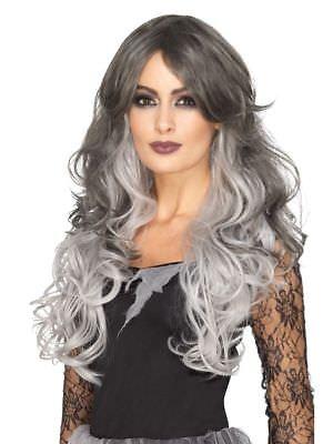 Deluxe Damen Langhaar Perücke Hitzebeständig Gothic-Braut Vampir Hexe Halloween ()