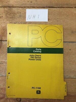 John Deere 292 Series Power Units Harvester Parts Catalog Pc-1168