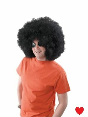 Black  Afro Wig Curly 70s Disco diva Fancy - Black Disco Diva Kostüm