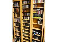 CD, DVD, Vinyl Media Storage, mint condition, beach oak wood each unit cost £50 each