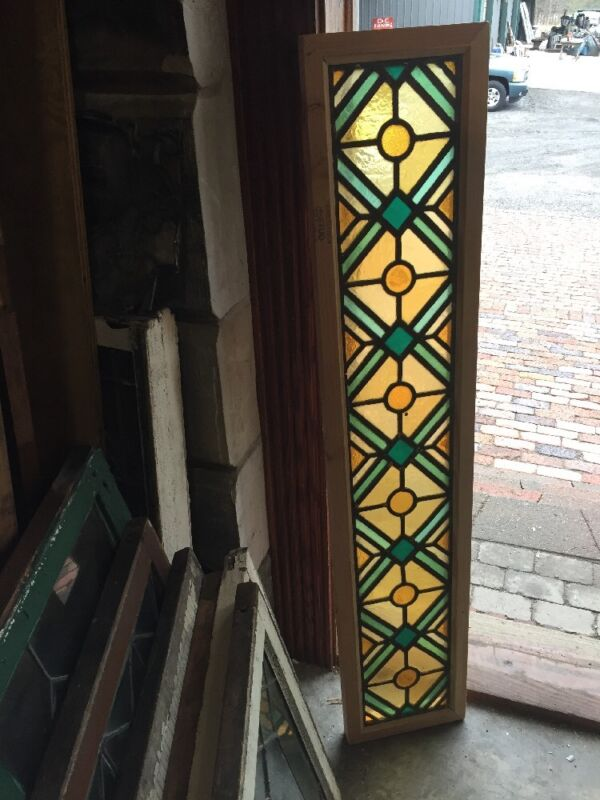 Sg 1130 10 Available Price Separate Stained Glass Transom Window 11.5x 55.5