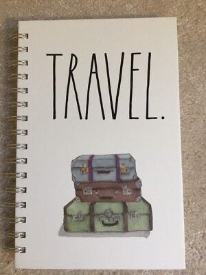 Rae Dunn Spiral Bound Notebook Travel 160 Lines Pages Blank Journal Ll
