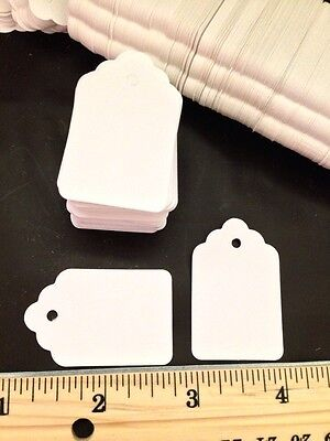Qty 1000 Pcs Unstrung Merchandise Tags 5 New Price Tag 1-116 X 1-58 White