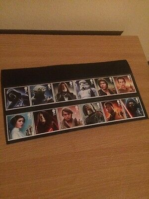 Star Wars Stamp Set New 12 Stamps 1st Class UK