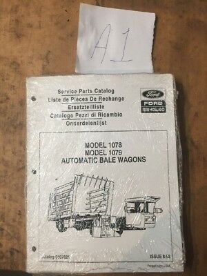 New Holland 1078 1079 Bale Wagon Parts Catalog New In Plastic