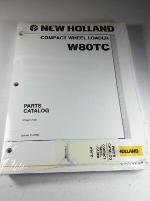 New Holland W80tc Wheel Loader Parts Catalog Manual