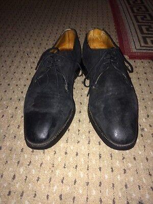 John Lobb Suede Shoes For Men In Black Size 7.5