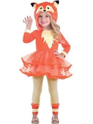 Child Fantastic Fox Hooded Tutu Costume Girls Animal Book Day Fancy Dress Kids