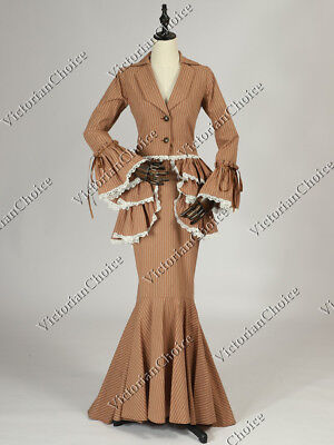 Edwardian Downton Abbey Form Fitting Suit Holiday Dress Gown Clothing 328 XXL