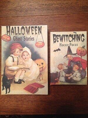 Bethany Lowe Halloween Ghost Stories Nesting Books-- Retired