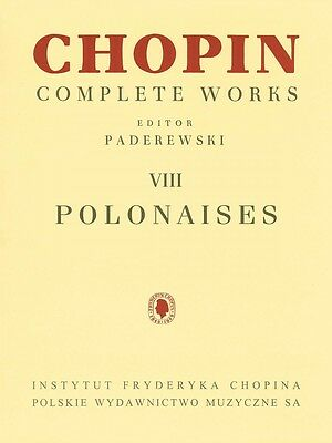 Polonaises Sheet Music Chopin Complete Works Vol. VIII PWM Book NEW 000132304 Complete Works Music Book