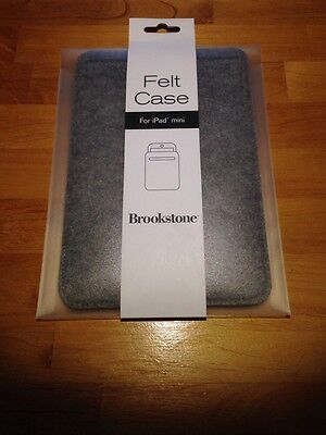 Brookstone Felt Case For iPad Mini Grey Felt Ipad Mini