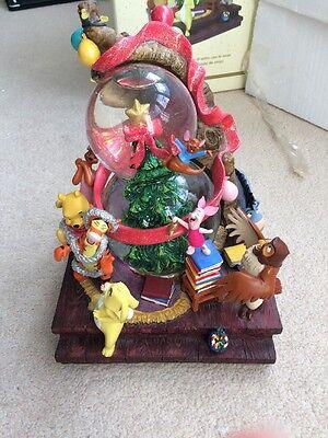 Winnie The Poor Large Snow Globe Christmas Tree With Box