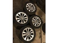 """Set of 4 18"""" Vauxhall Astra gtc alloy wheels with tyres"""