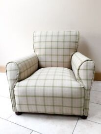 Stunning re-upholstered club style armchair / arm chair