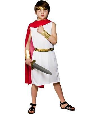 Child Roman Boy Outfit Fancy Dress Costume Book Week Toga Kids Boys