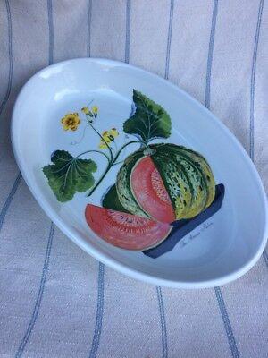 Portmeirion Pomona Deep Oval Baker Baking Dish Casserole Amicua Melon 16-inch Deep Oval Baking Dish
