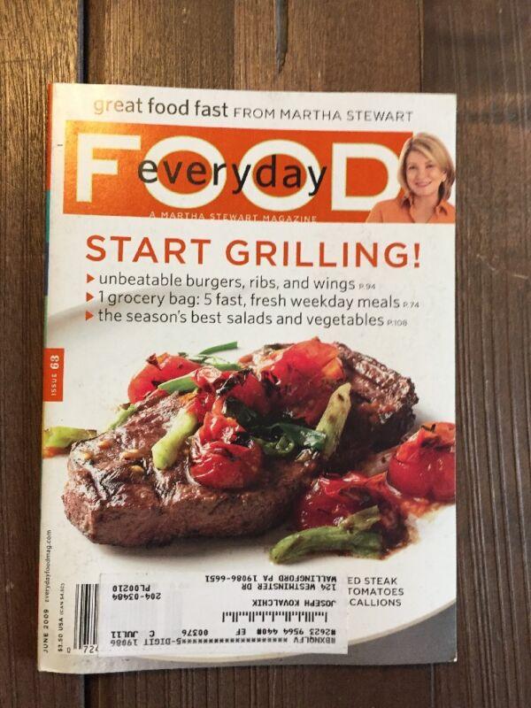 Martha Stewart Everyday Food Magazine Issue 63 June 2009