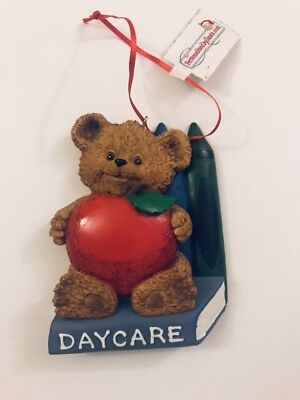 PERSONALIZED Day Care Bear Heard Christmas Tree Ornament Holiday Gift Bear Heard ()
