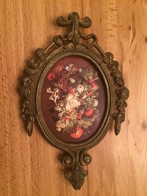 Vintage Metal Ornate Picture Frame Italy