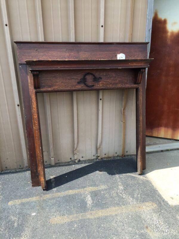 M 38 Antique Oak Fireplace Mantle Quartersawn