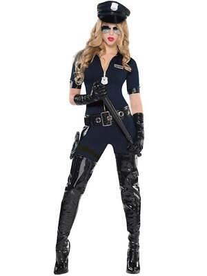 Sexy Stop Traffic Police Costume Womens Ladies Policewoman Cop Fancy Dress - Cop Womens Kostüm