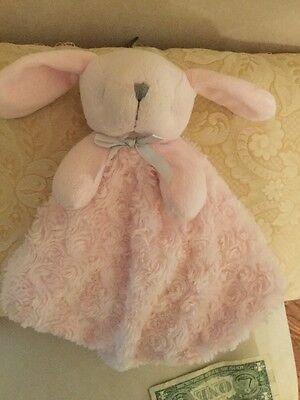 Blankets & Beyond Lovey Pink Puppy Dog Bunny Minky Swirls Security Baby