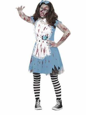 Zombie Teeparty Kostüm, Teenager S, Halloween Alice Im Wunderland Kostüm