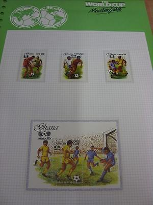 circa 1986 World Cup Mexico,  4 Ghana Stamps, Taken From the World Cup Masterfil