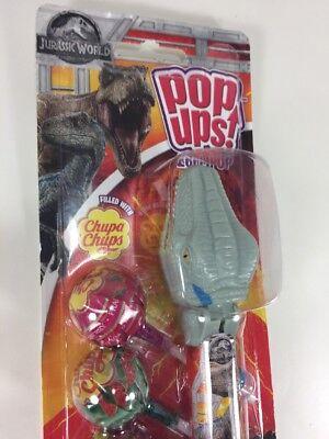 Flix Candy Pop Ups COLLECTIBLE Lollipop Saver Jurassic World GRAY Blue DINOSAUR