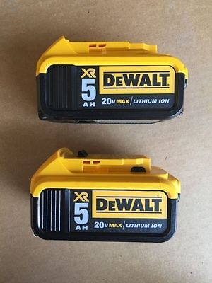 New DeWALT DCB205-2 20-Volt Max Lithium-Ion Battery Pack (2-Pack) DCB205 2017