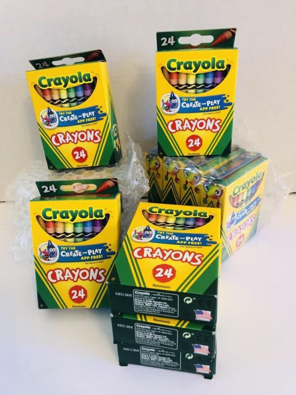 Lot Of Crayola Crayons — 13 Boxes, Brand New, Each 24 Count