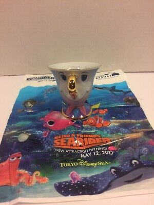 Tokyo Disney Resort Beauty and the Beast Tea Cup Chip NEW JAPAN EXCLUSIVE - Beauty And The Beast Teacup Chip