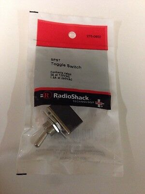 Spst Toggle Switch 275-0602 By Radioshack