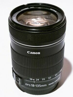 Canon EF-S 18-135mm f/3.5-5.6 IS USM Zoom Lens-scratched-read!
